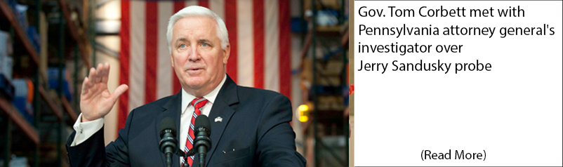 Gov. Tom Corbett met with Pennsylvania attorney general's